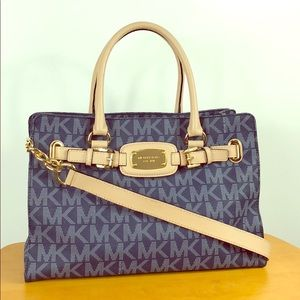 Michael Kors 💙 Blue Signature Hamilton Tote Bag